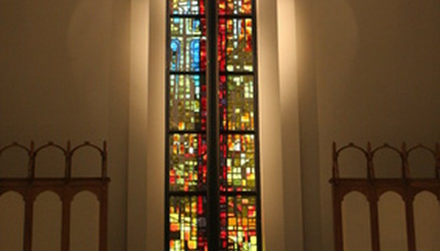 Un vitral de vidrio.