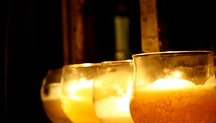 Candles are great at setting the mood.