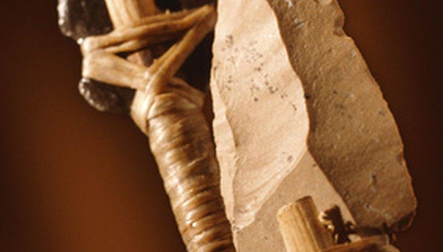 Los habitantes de la era mesolítica fabricaban herramientas de piedra.
