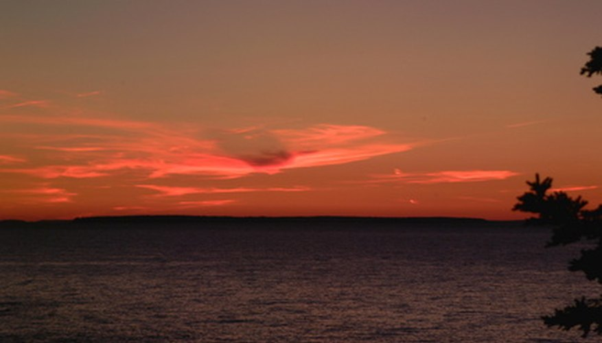 Enjoy a sunset off the Maine coast on your romantic mini-vacation.