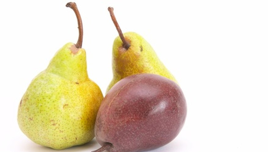 Pears come in a variety of colors.