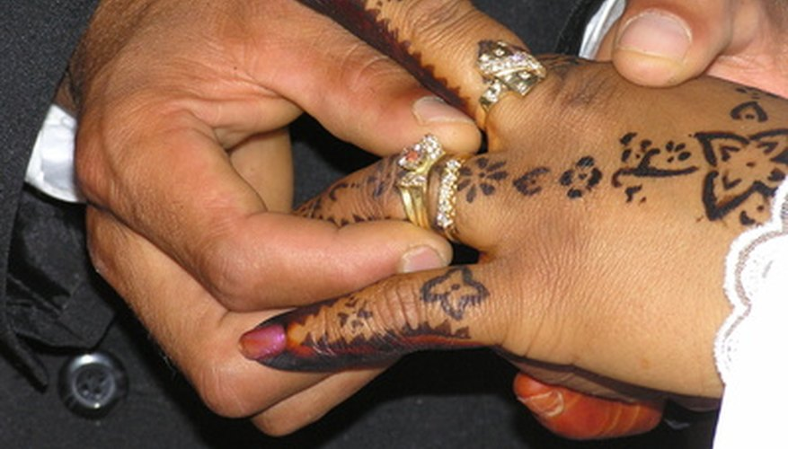 Henna is a popular wedding tradition in Middle Eastern cultures.