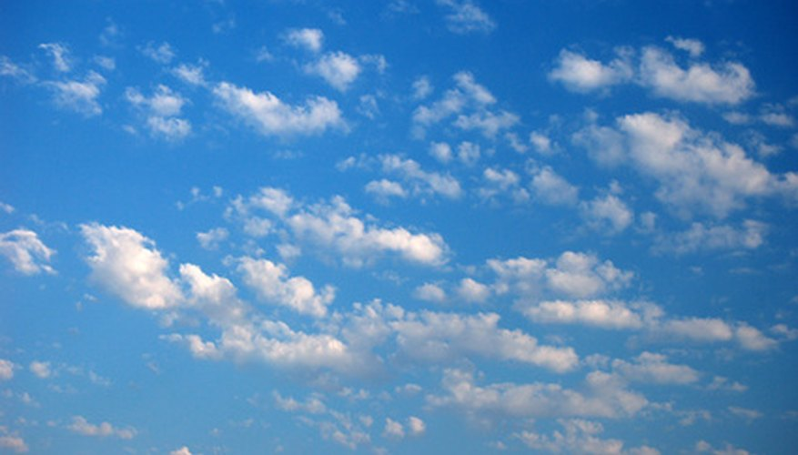 Altocumulus clouds usually form in groups.