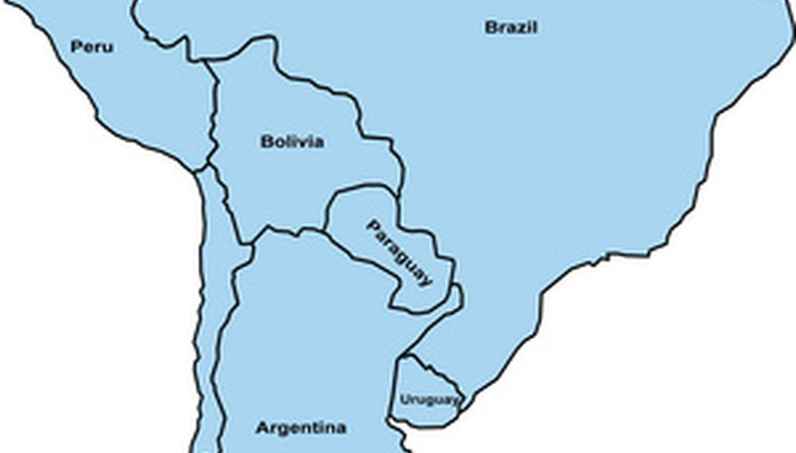 South America is the world's 4th largest continent.