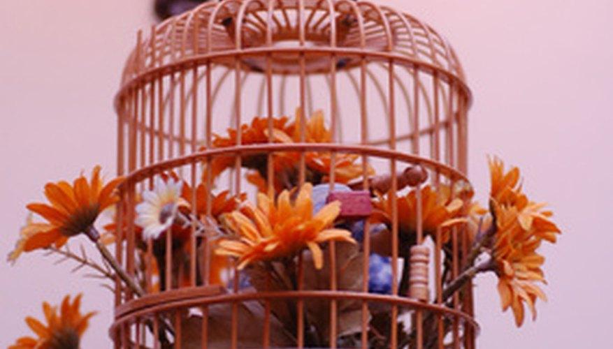 Las jaulas de pájaro antiguas son piezas decorativas populares.
