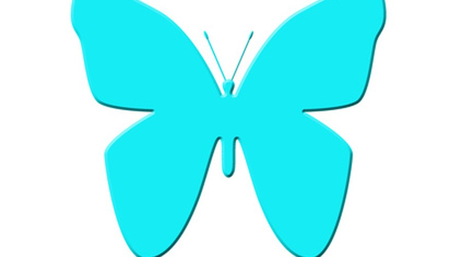 Trace around an image of a butterfly to make your template.