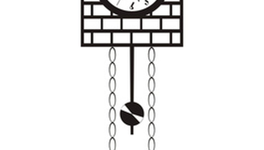 Illustration of typical cuckoo clock