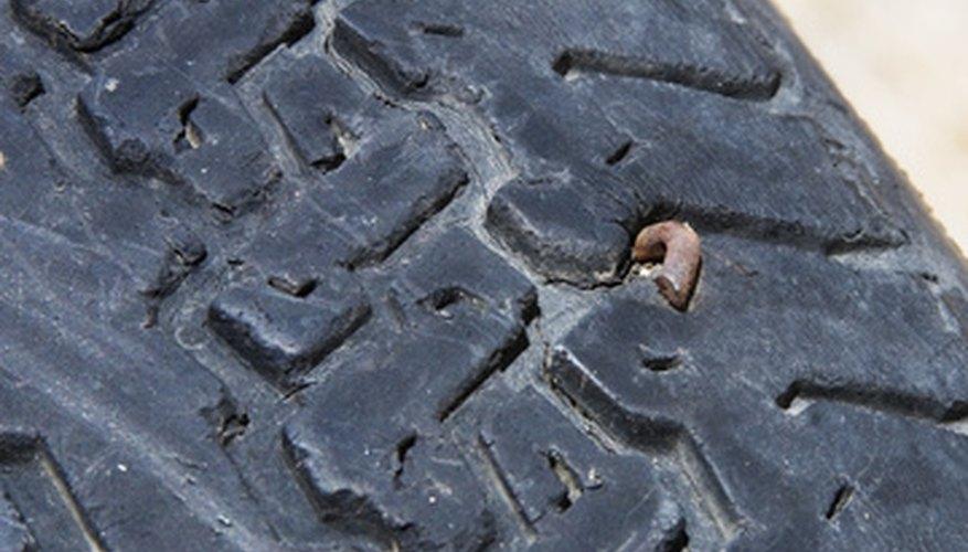 Neumático dañado