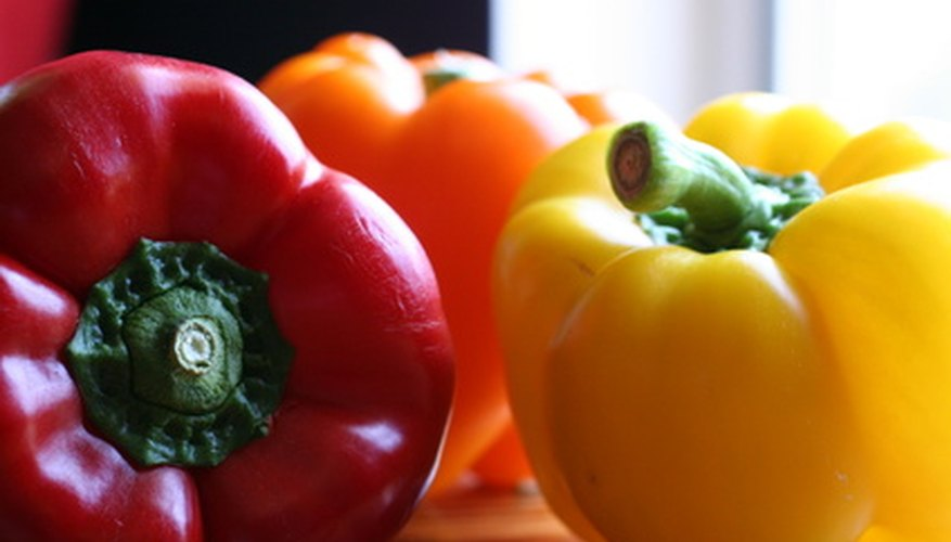 Peppers come in a variety of colors.