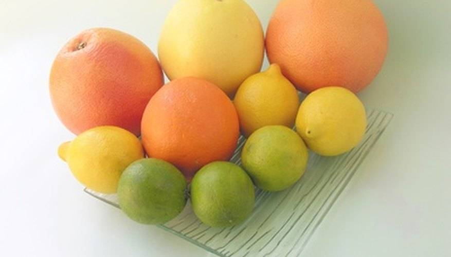 Citrus fruits have different levels of acidity.