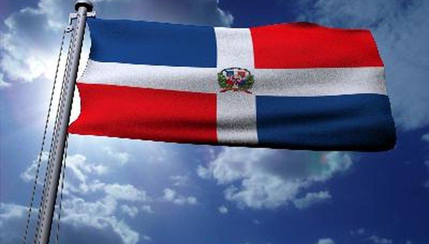 La bandera nacional de la República Dominicana
