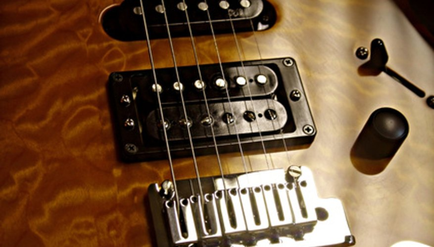 Humbucking pickups look like two single-coil pickups bundled together.