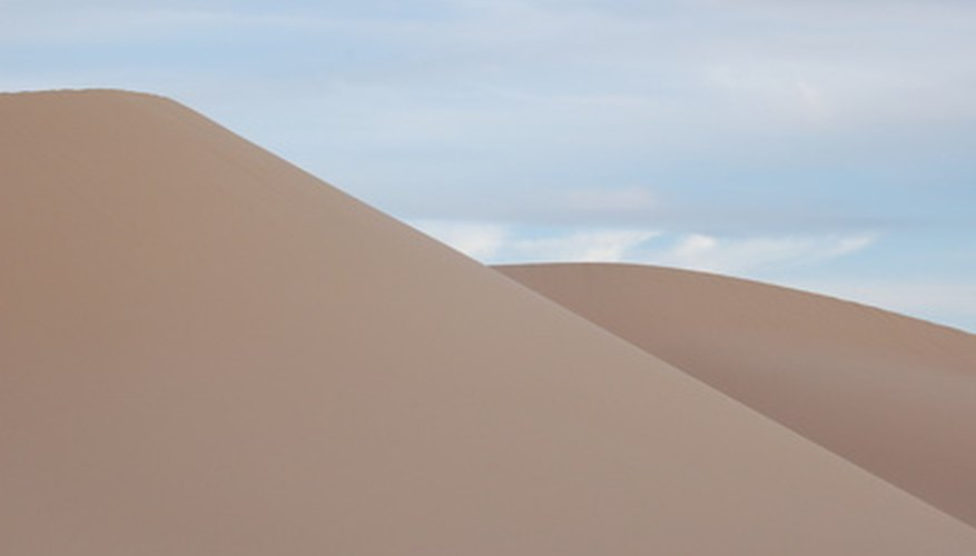 Sand dunes make up a small percentage of the Gobi Desert.