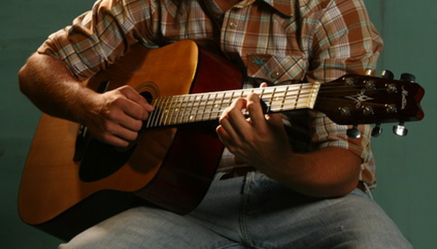 Acoustic guitars can be classical or folk guitars.
