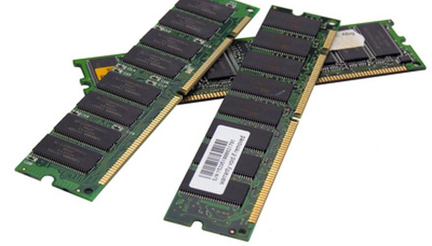 Módulos de memoria SDRAM.