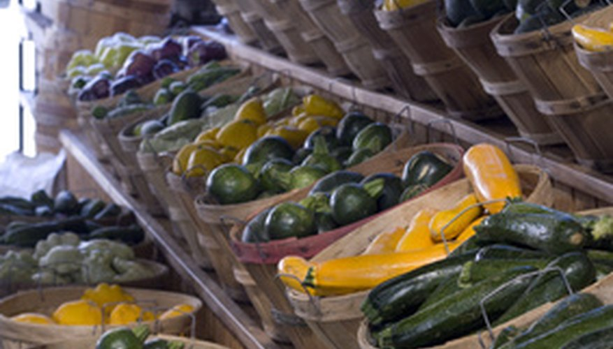 Vegetables can be grown and sold in an open market.
