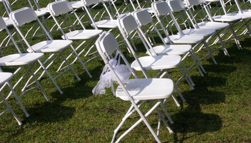 A chair rental agreement will list the quantity and description of chairs and chair covers the customer is renting.
