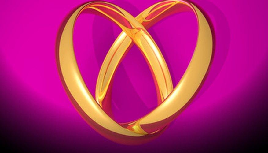 El oro es un color tradicional y un metal precioso usado para celebrar el aniversario de 50 años.
