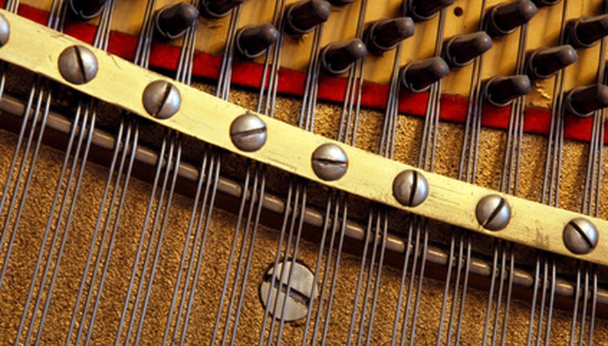 Restringing a piano means replacing the whole set of strings.