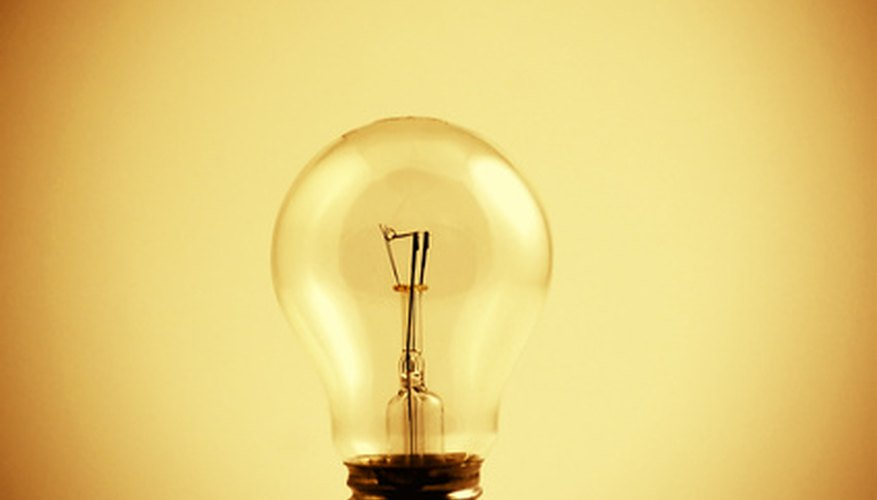 Light bulb power can be measured if you know the voltage and current it uses.