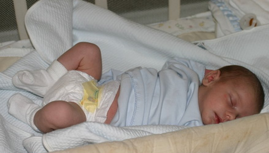 A sleeping baby is a welcome sight to tired parents.