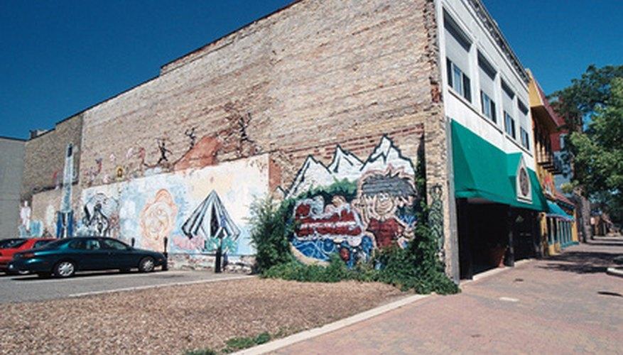 Existen muchos proyectos de murales para los interiores y exteriores de las escuelas.