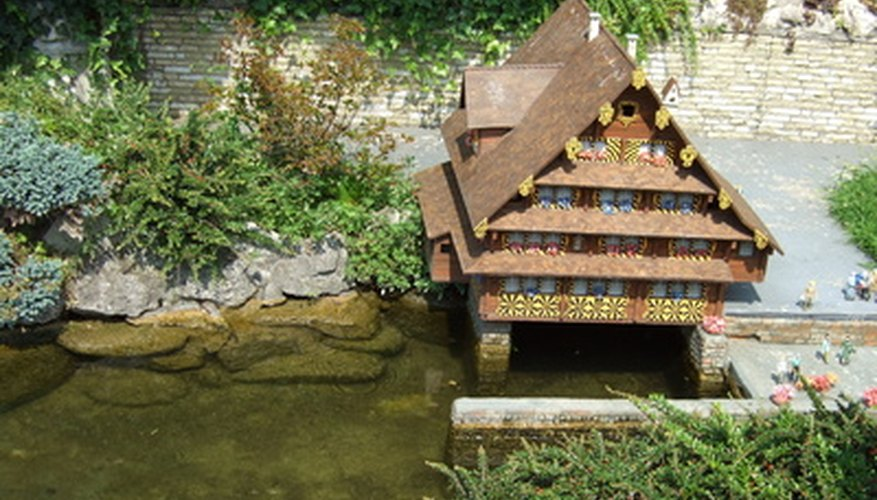 Not all fairy houses are as detailed as this miniature chalet.