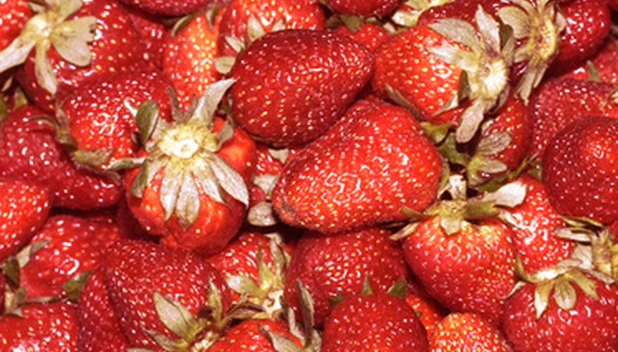 Freshly picked strawberries can be quite delicious.