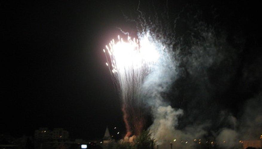 Los fuegos artificiales. Las reacciones de combustión tienden a ser más divertidas.