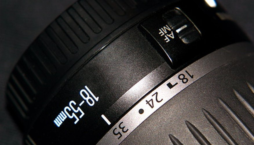 An example of a typical Canon EF lens with Auto-Focus capabilities