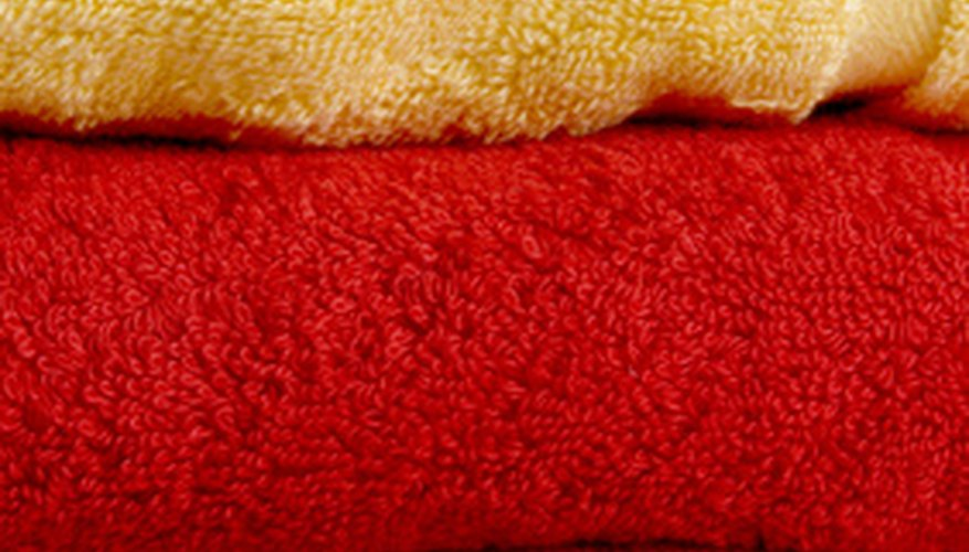 Luxury bath towels are made from 100 percent cotton and are highly absorbent.