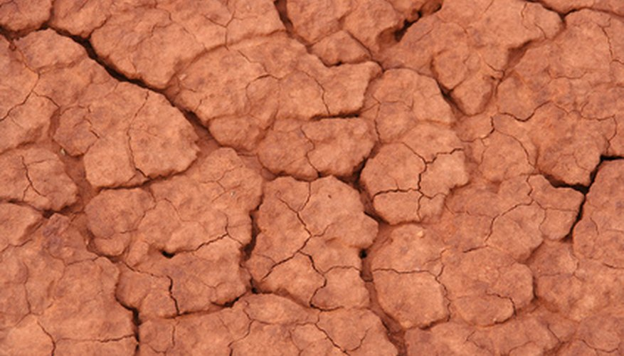 The fine particles of clay soil are often compacted.