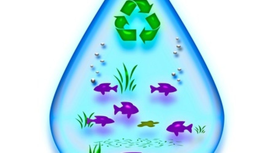 Reciclar y la conservación de agua son dos temas populares para el diario mural del día de la Tierra.
