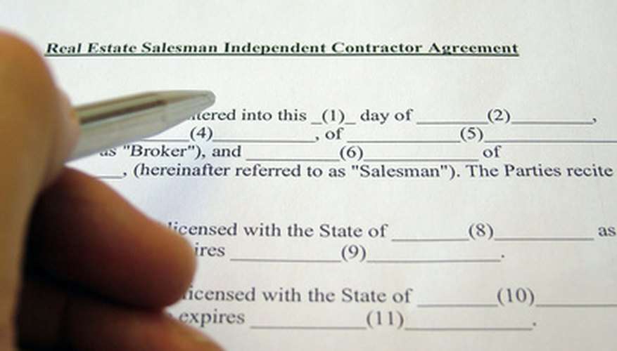A real estate salesperson is a contracted agent of a real estate broker.