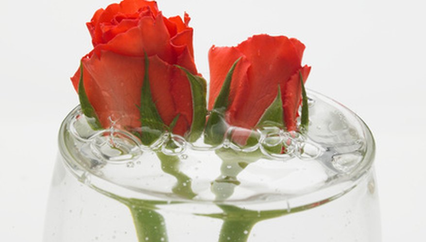 Put droopy roses into water up to the flowers.