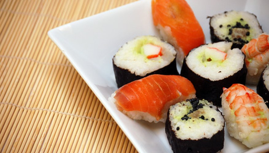 Sushi is finger-friendly.