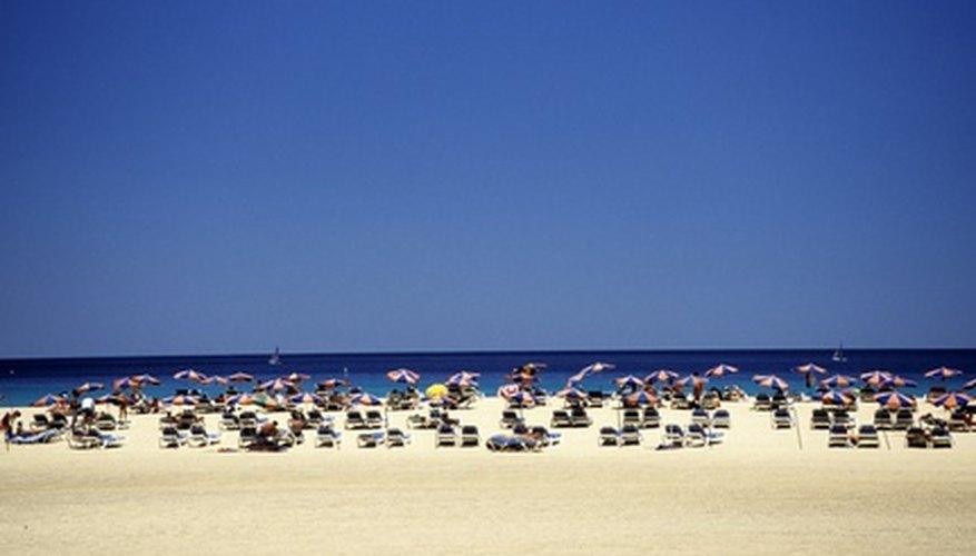 Playa turística, Fuerteventura, Islas Canarias