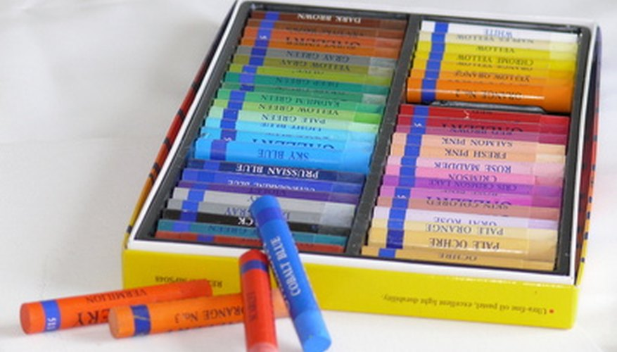 OIl pastels were first developed in Japan.