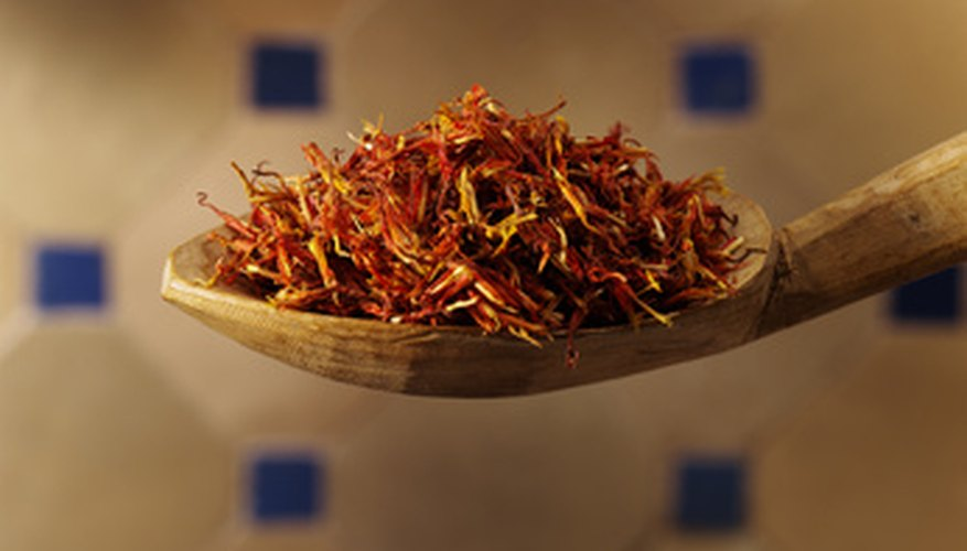 Saffron spice is made from the dried pistils of the flower.