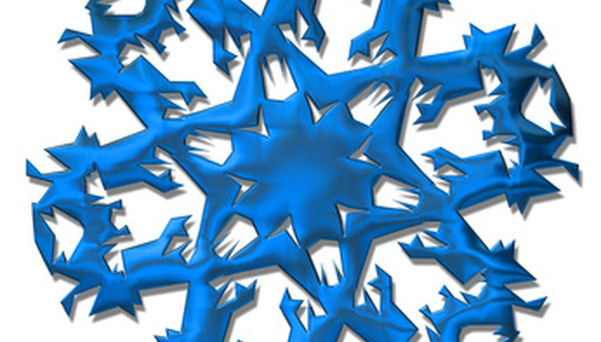 Creating a snowflake is one of the more popular beginner fractal art projects.