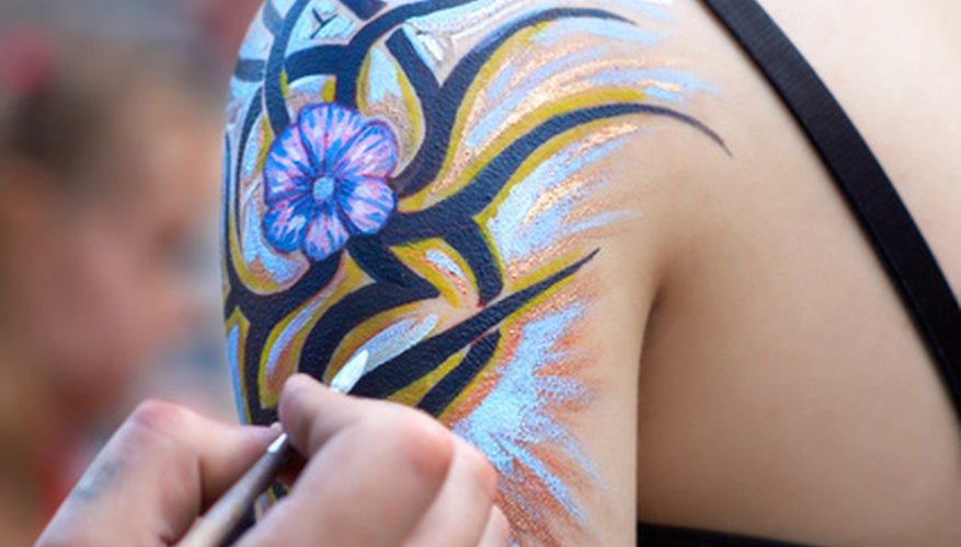 Add a burst of color with a temporary tattoo.