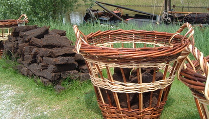 Peat moss can be added to baskets and containers as an alternative way of gardening.