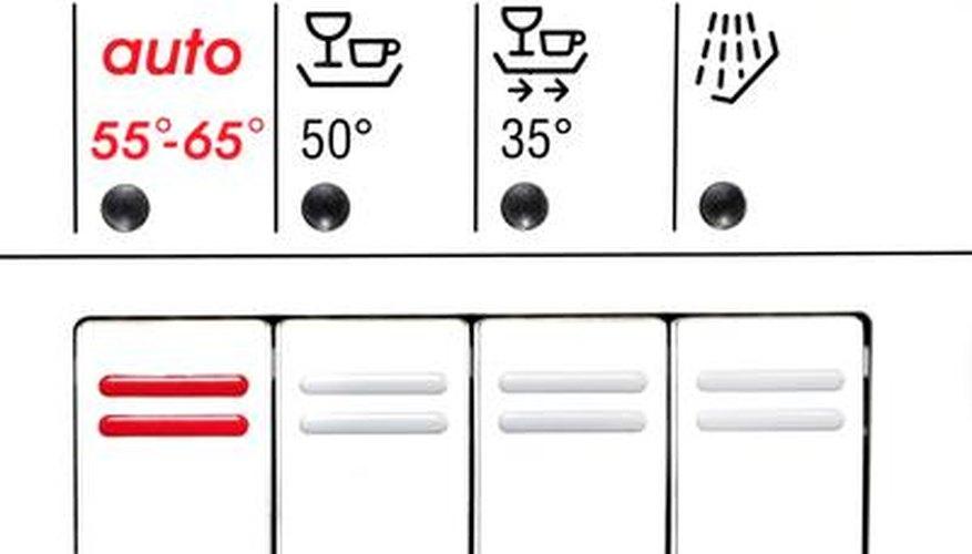 control panel of dishwasher
