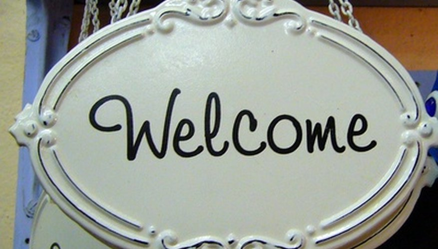 Employee orientations welcome new employees.