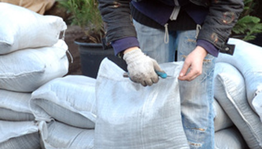 Bags of dirt are often labeled in cubic yards.