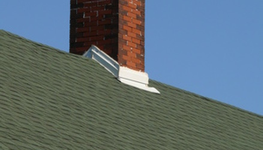 Flashings, vent, ridge cap, chimney.