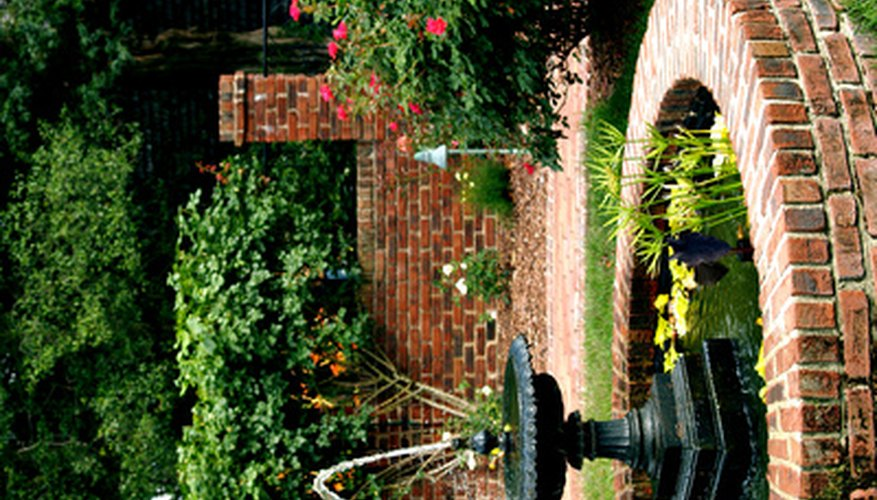 Brick and mortar edging can be used for plant gardens, water gardens or to retain soil.