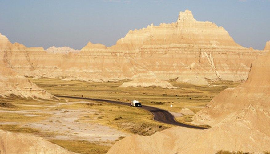 stratification of sandstone creates dramatic landscapes