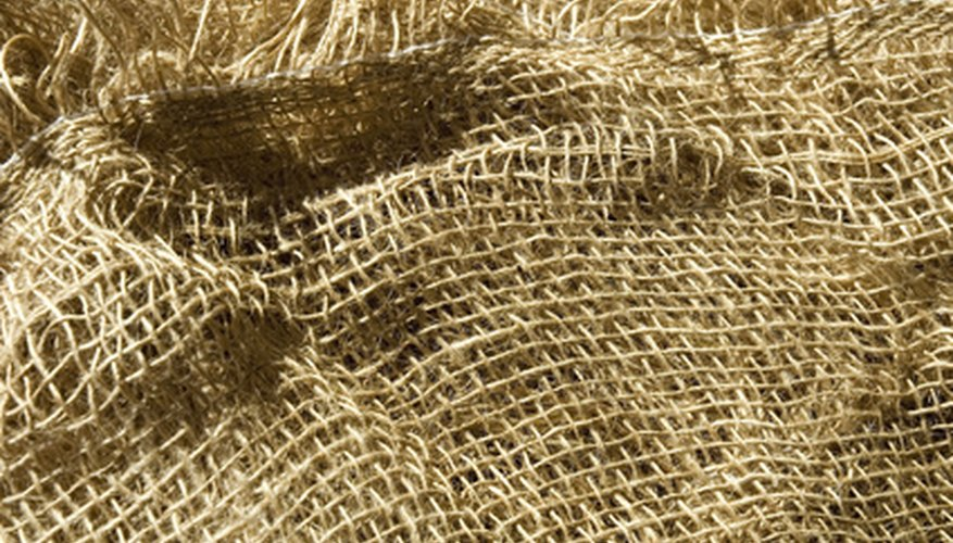 Burlap provides a breathable material through which plants can thrive.