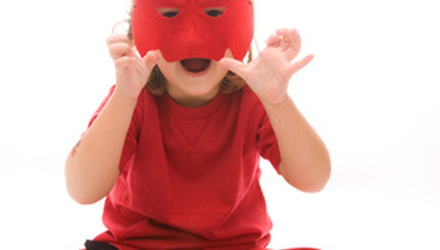 Mask games are a fun way to keep 5 to 11 year olds entertained indoors.